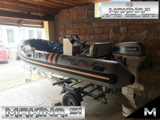 Gumenjak Maestral H50F,  plus pocinkana prikolica Ellebi
