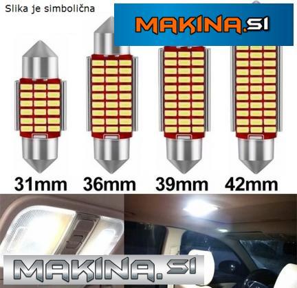 LED žarnica CEVNA / Canbus / 39mm